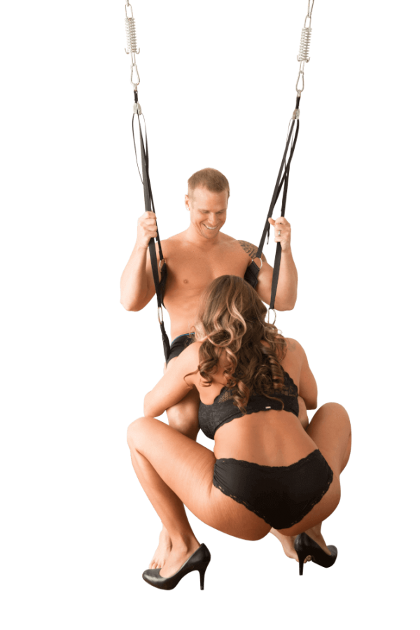 oral sex in a sex swing