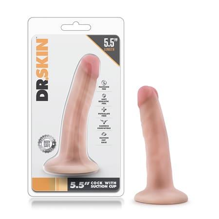 dr skin realistic dildo 5.5 inches in vanilla
