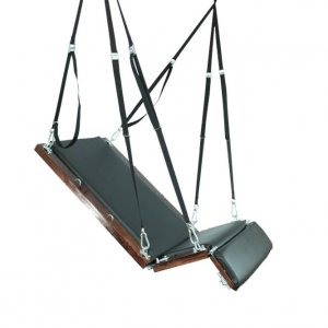 Tied Tight Platform Swing seated